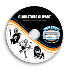 Gladiators Clipart Vector Clip Art Vinyl Cutter Plotter Amp T Shirt Graphics Cd