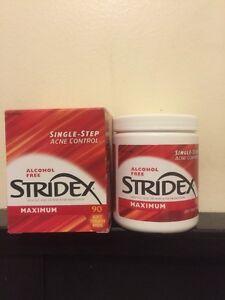 Stridex Maximum Alcohol Free Pads ~ Single Step Acne Control- 90 PADS