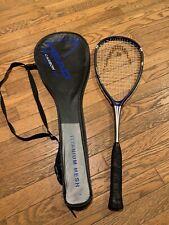 Head Ti 190 Carbon 5000 Squash Racket Racquet With Case Titanium Mesh