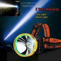 Super Bright Waterproof Head Torch Headlight LEDS USB Rechargeable Headlamp Work