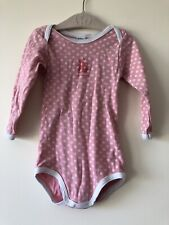 Petit Bateau Baby Girl Long Sleeved Pink Bodyshirt 18 Months