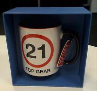 Happy 21st Birthday Top Gear Mug in Gift Box - Brand New - Dishwasher Safe