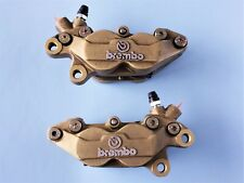DUCATI 748-916 BREMBO CALIPERS EARLY 40MM MOUNT WITH UNUSED CARBON CERAMIC PADS