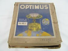 Vintage 1960's Optimus No 45 Swedish Made Brass Paraffin Pressure Stove Boxed