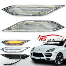 2011-2014 Porsche Cayenne 958 Clear SMD LED Side Marker Lights Bumper Lamps Pair