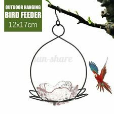 Iron Hanging Bird Feeder Outdoor Feeding Bath Platform Garden Decor Ornament Su