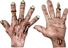 HALLOWEEN ADULT ZOMBIE FLESH LATEX  HANDS GLOVES MASK PROP HORROR