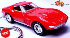 RARE!! KEY CHAIN 69/1968/1969/1970 RED CHEVY CORVETTE STINGRAY C3 NEW CUSTOM LTD