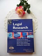 NOLO Legal Research How to Find and Understand the Law 13th Edition
