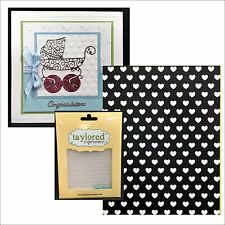 Swiss hearts embossing folder - Taylored Expression embossing folders TEEF39