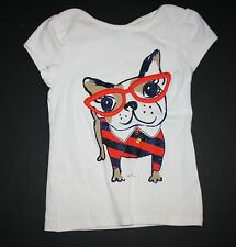 New Gymboree Smart Frenchie Puppy Dog Tee Top Short Size 4 Year NWT Prep Perfect