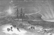 POLAR REGIONS. Investigator snow-walled, for winter, antique print, 1850
