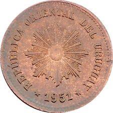 Republica Oriental Del Uruguay 5 Centésimos 1951 KM#21a Chile Mint (4581)