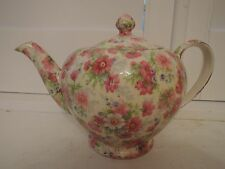Vintage Royal Winton Chintz Shrewsbury Teapot Rare! 1950's