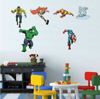 Comic Marvel Heros Wall Sticker Kid Nursery Decor Vinyl Decal Gift Art Mural DIY