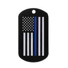 Thin Blue Line Law Enforcement Dog Tag Military Identification Rothco 8513