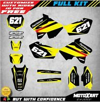 Custom Graphics Full Kit to Fit Suzuki RM 250 2001 - 2016 MAX STYLE decals