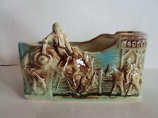HTF! VINTAGE ORIGINAL MCCOY 1956 BUCKING BRONCO RODEO PLANTER.  L@@K!
