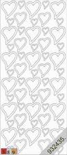 Stickerbogen Liebe 120 Hochzeit Herzen Silber Nr