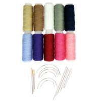24Pcs/lot Hand Sewing Threads with Repair Upholstery Curved Needles Carpet