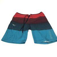 O'Neill Men's Board Shorts John John Swim Trunks Striped 32