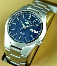 Seiko 5 Automatic Mens Watch Blue Dial Skeleton back SNK603K1 UK Seller