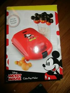 Disney Mickey Mouse Shaped Party Cake Pop Maker Birthday Party Red New