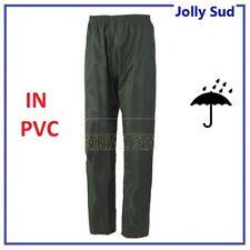 Pantalone impermeabile Antipioggia Moto Lavoro Uomo in PVC Economico Elastico