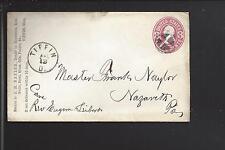 TIFFIN,OHIO 3CT PINK ENTIRE, ADVT J.M. NAYLOR, HARDWARE, SENECA CO 1825/OP.