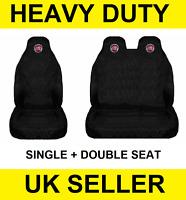 NEW FIAT Black Van Seat Covers Protectors 2+1 100% WATERPROOF Black HEAVY DUTY
