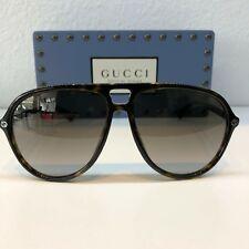 New Authentic GUCCI  Sunglasses GG0119S 002 59 Tortoise Color