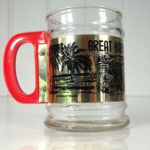 Vintage Drinking Stien Glass Souvenir Great Barrier Reef Australiana 1970s