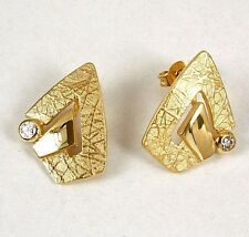 Moderne Ohrringe in 333 Gold mit Zirkonia