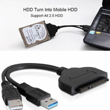Hard Disk Drive SATA 7+15 Pin 22 to USB 2.0 Adapter Cable For 2.5 HDD Laptop GB