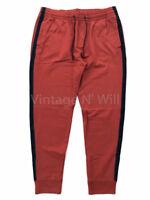 Abercrombie Fitch AF Jeans Mens L Red/ Navy Blue Stripe Jogger Sweatpants Pant