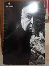 "Rare VTG Alfred Hitchcock THINK DIFFERENT Apple foam board stiff poster 24""x36"""