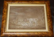 ​Attributed to Philip James de Loutherbourg RA Cattle & Herder Scene, Pastel