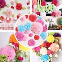 9pcs Birthday Balloons Pom Poms Banner Bunting Tissue Paper Wedding Party Decor