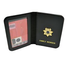 DEA Police Federal Agent Mini Badge Family Member ID Wallet License Holder 4 PBA No Imprint