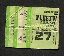 Original 1977 Fleetwood Mac concert ticket stub Rumours Tour