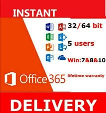 Microsoft Office 365 Pro Plus 2019 PC /Mac 5 TB 5 Devices Lifetime subscription