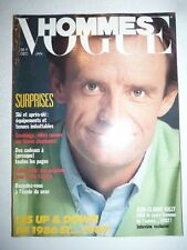 Magazine Revue mode fashion VOGUE HOMMES #95 decembre 1986 Jean Claude Killy