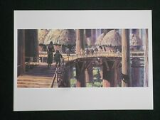 Vintage Star Wars ROTJ Ralph McQuarrie Portfolio Print #12 - Leia and Wicket