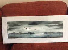 Original watercolour signed, Moonflighting by Ricky Figg.