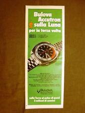 Olorolio Bulova Accutron e Polvere adesiva Permadent Pubblicità vintage anni '70