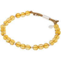 Gorjana Power Gemstone Citrine Beaded Bracelet For Abundance 17120527SPKG