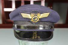Vintage Lufthansa DLH Pilot's Visor Hat Cap Gold Bullion Badge Pin. 1960's or 70