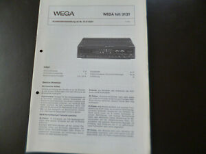 Original Service Manual Schaltplan Wega  hifi 3131