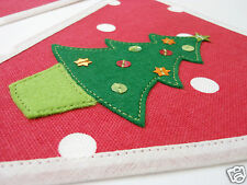 Handcrafted Christmas Bunting Banner NOEL Red Spot Clarke & Clarke fabric