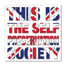 SELF PRESERVATION SOCIETY WHITE vinyl car, van decal sticker